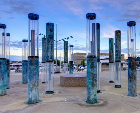 Downtown Tacoma Lantern Statues