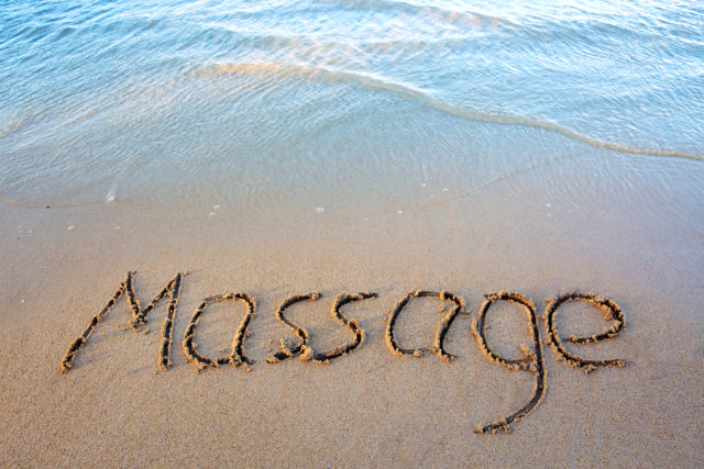 Massage on the beach, Travel massage, massage school